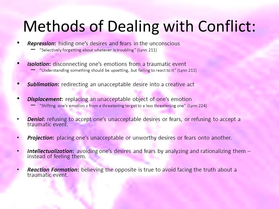 Methods of Dealing with Conflict: