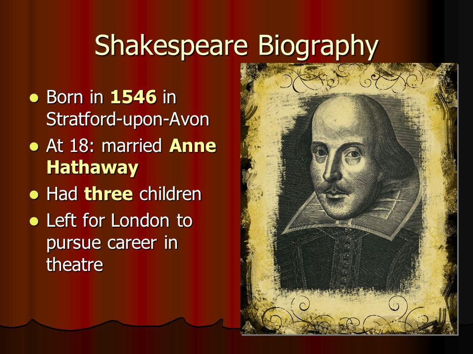 Shakespeare Biography