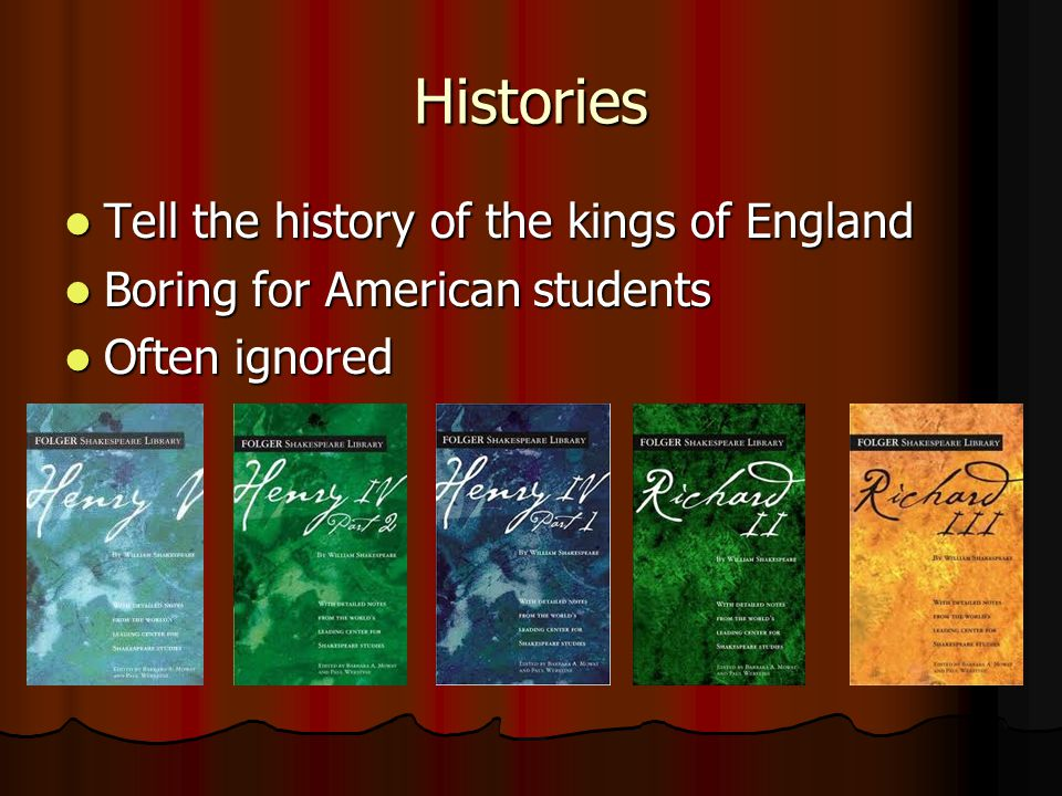 Histories Tell the history of the kings of England