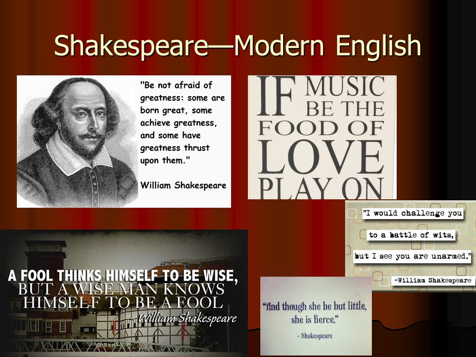 Shakespeare—Modern English