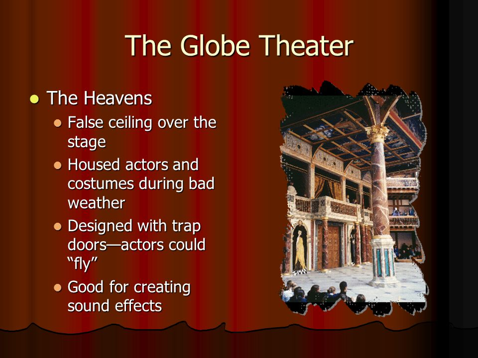 The Globe Theater The Heavens False ceiling over the stage