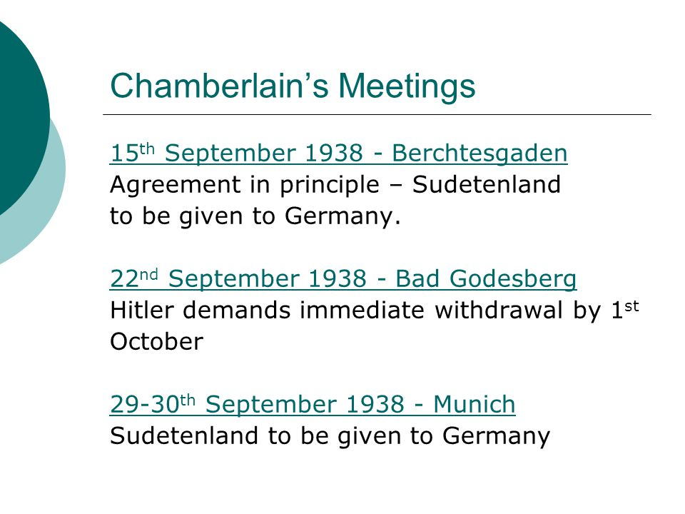 Chamberlain's Meetings