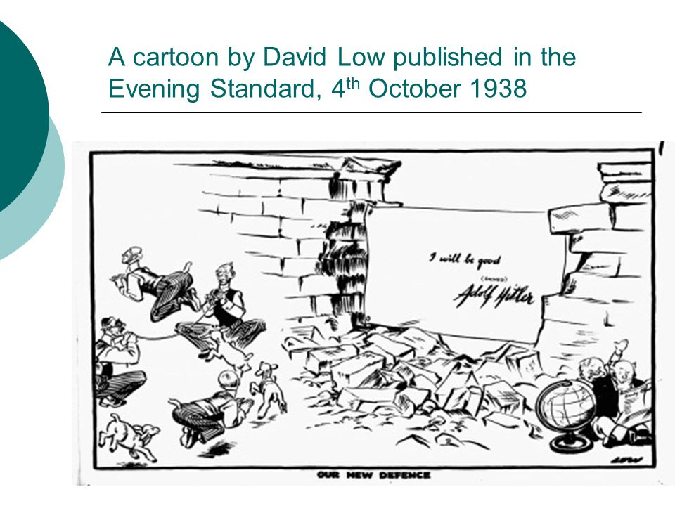 A cartoon by David Low published in the Evening Standard, 4th October 1938
