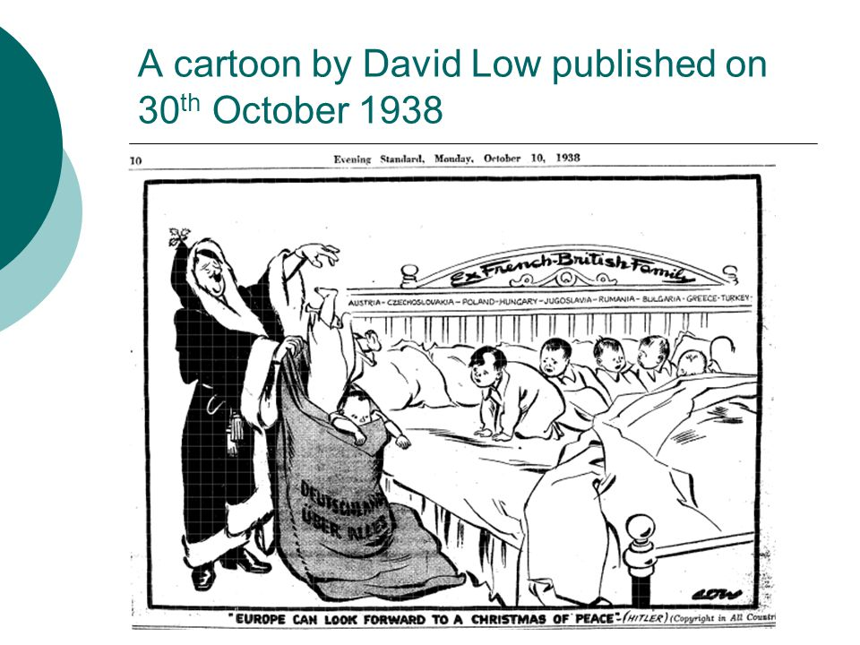 A cartoon by David Low published on 30th October 1938