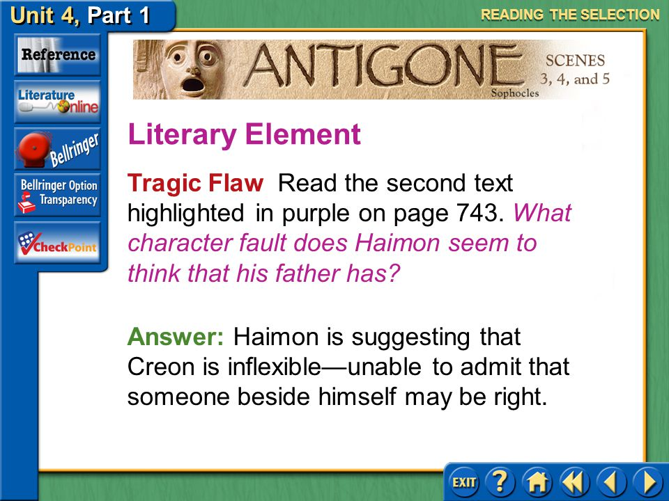 READING THE SELECTION Literary Element.