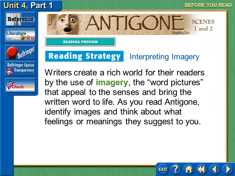 BEFORE YOU READ Interpreting Imagery.
