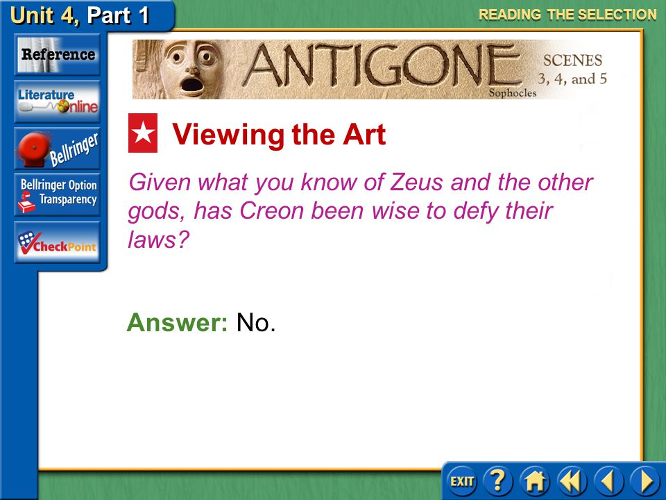 Viewing the Art Answer: No.
