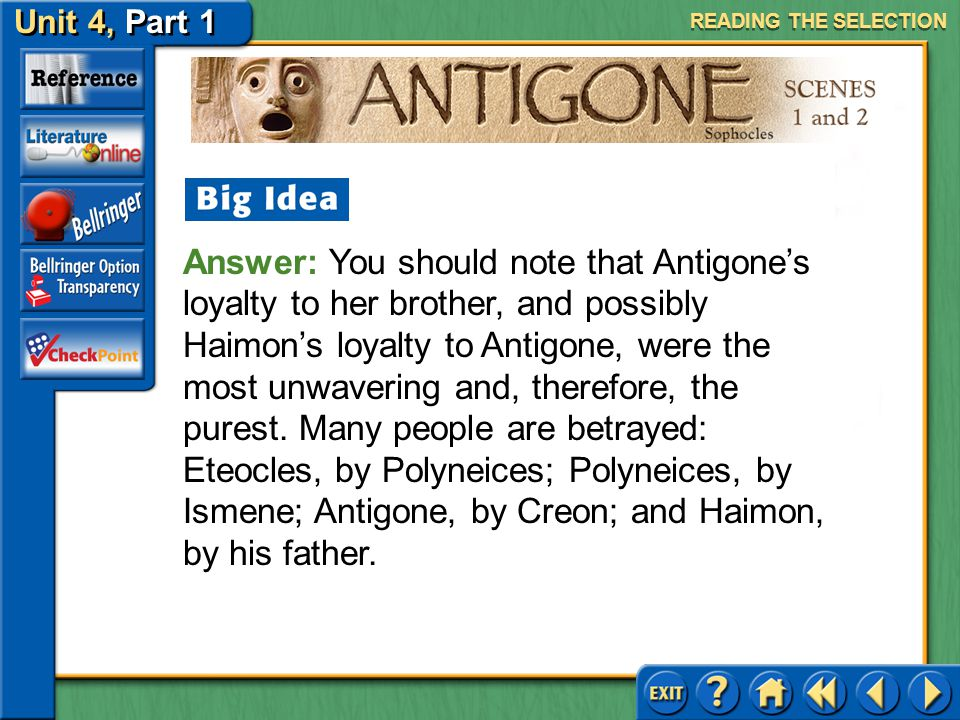 antigone essay on loyalty