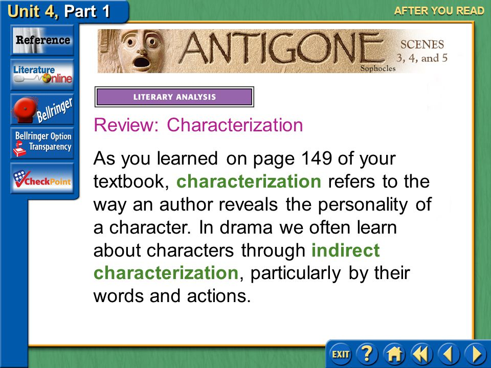 Review: Characterization
