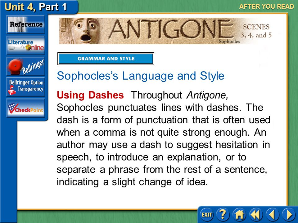 Sophocles's Language and Style