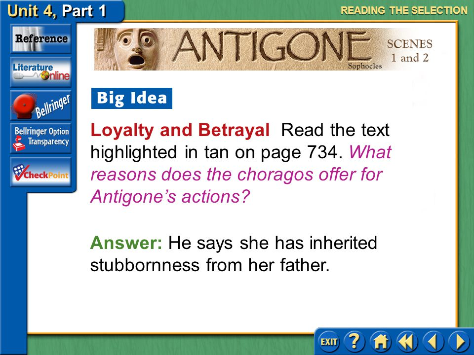 Answer: He says she has inherited stubbornness from her father.