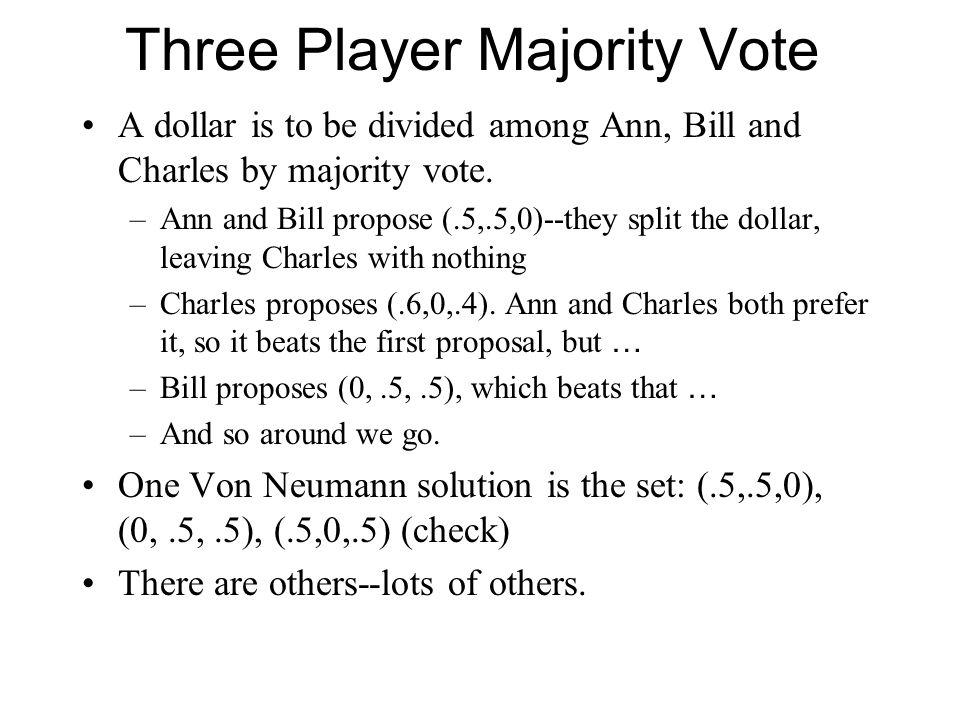 Three Player Majority Vote