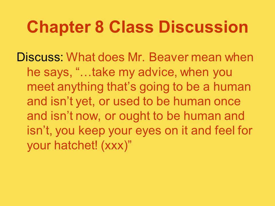 Chapter 8 Class Discussion