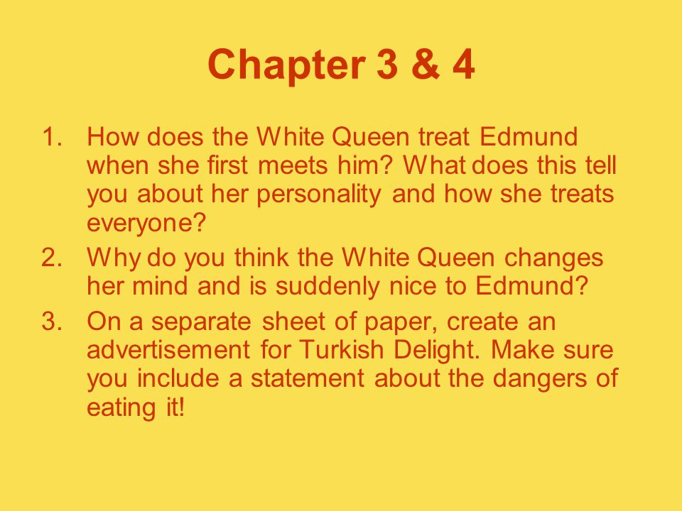 Chapter 3 & 4