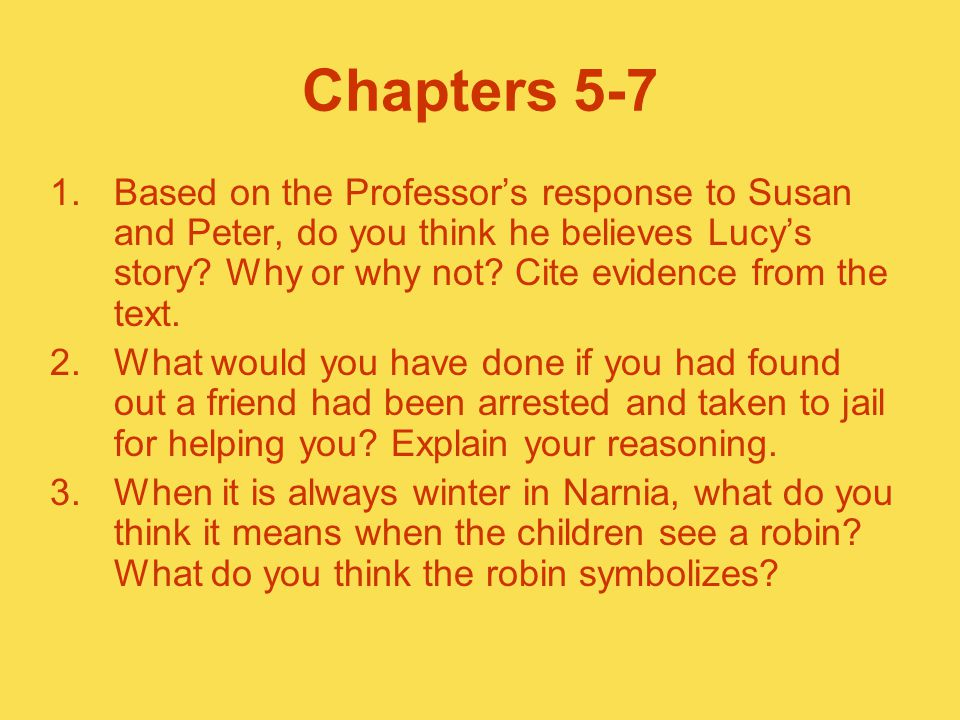 Chapters 5-7