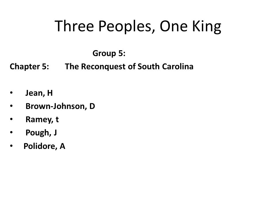 Three Peoples, One King Group 5: