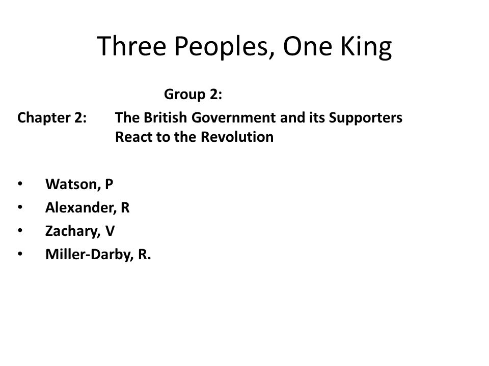 Three Peoples, One King Group 2: