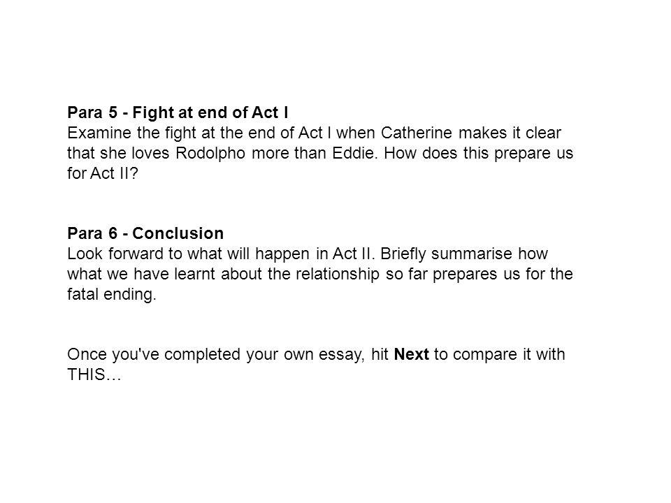 Para 5 - Fight at end of Act I