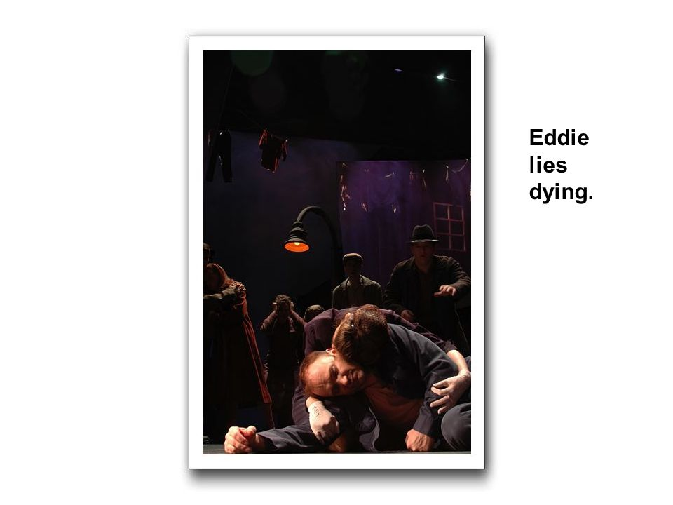 Eddie lies dying.