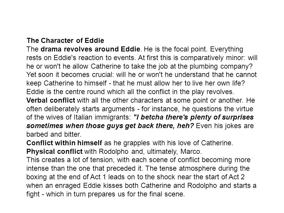 The Character of Eddie