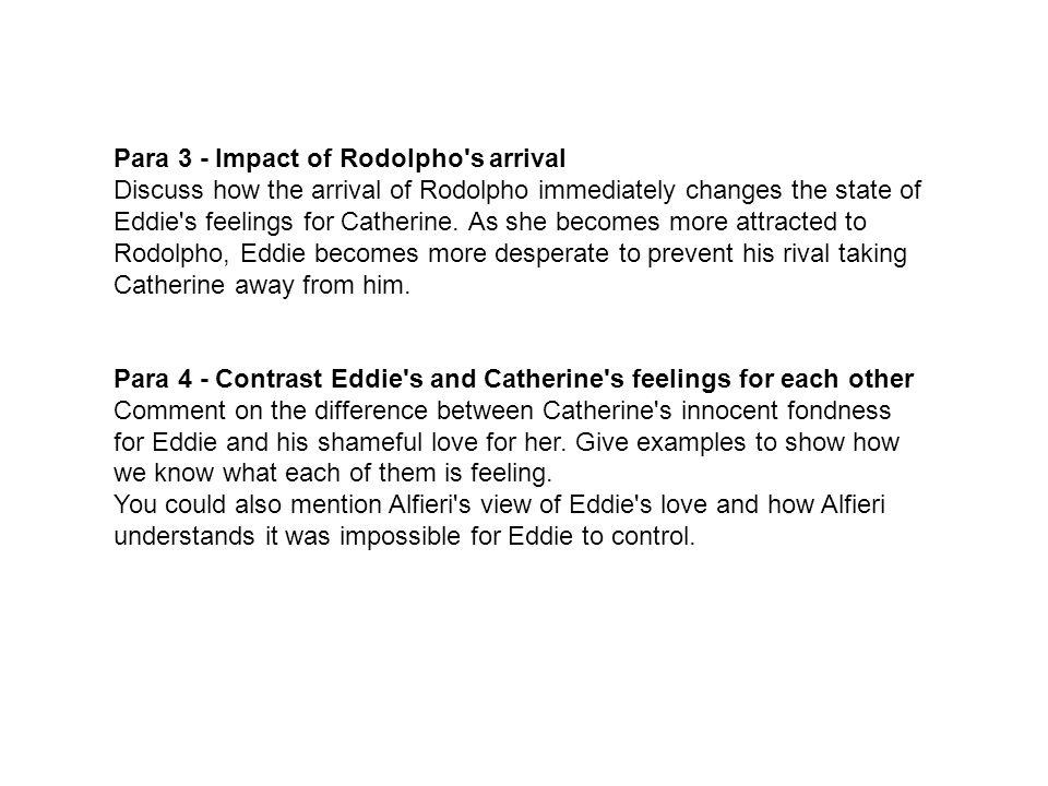 Para 3 - Impact of Rodolpho s arrival