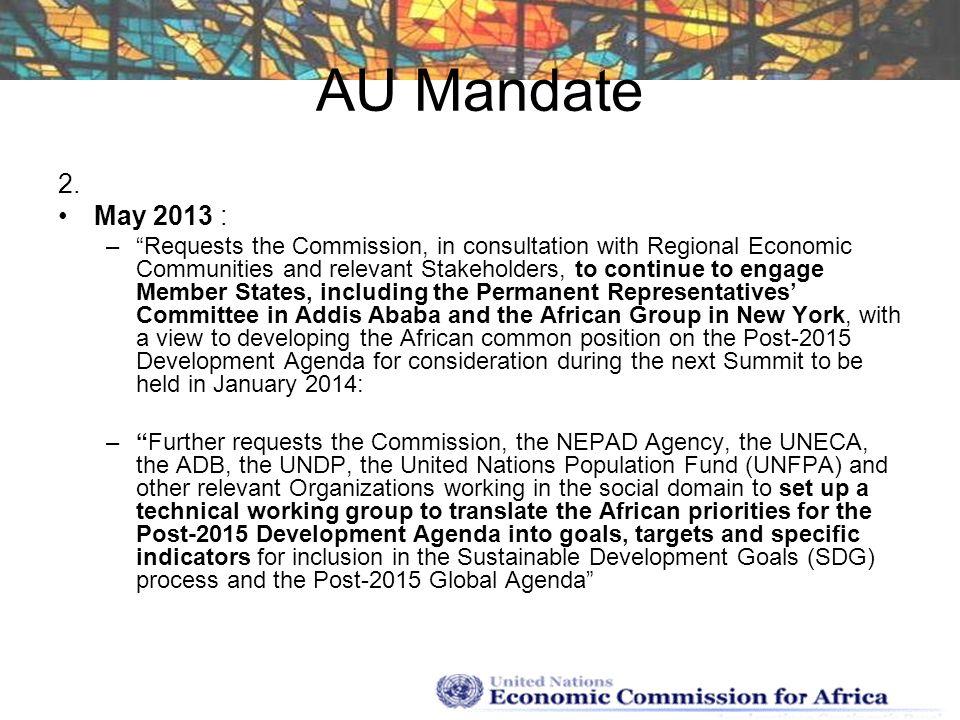 AU Mandate 2. May 2013 :