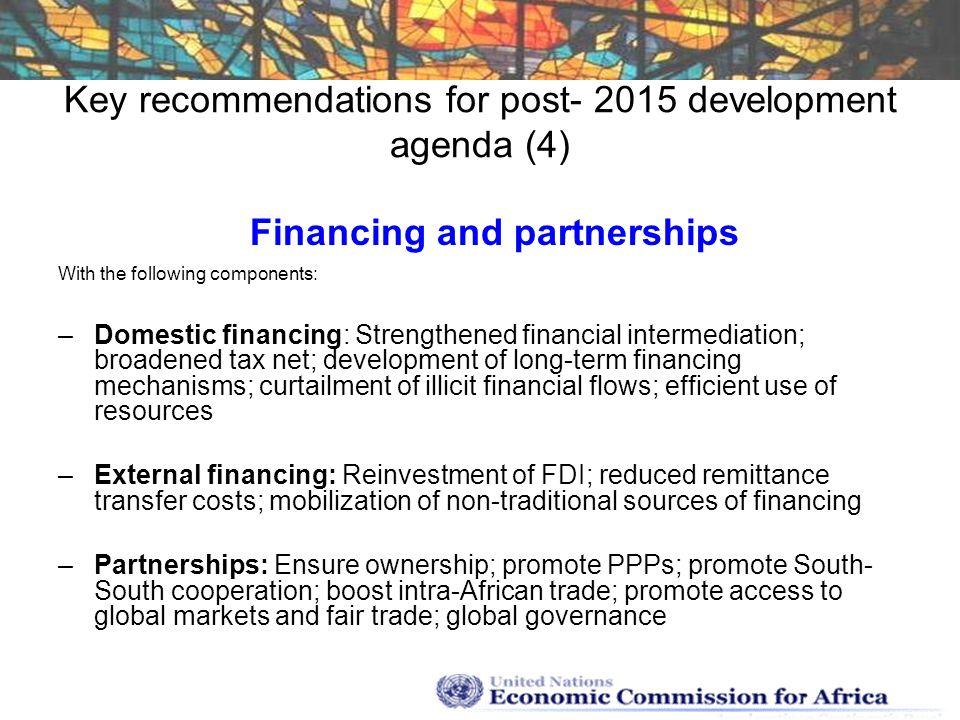 Key recommendations for post- 2015 development agenda (4)