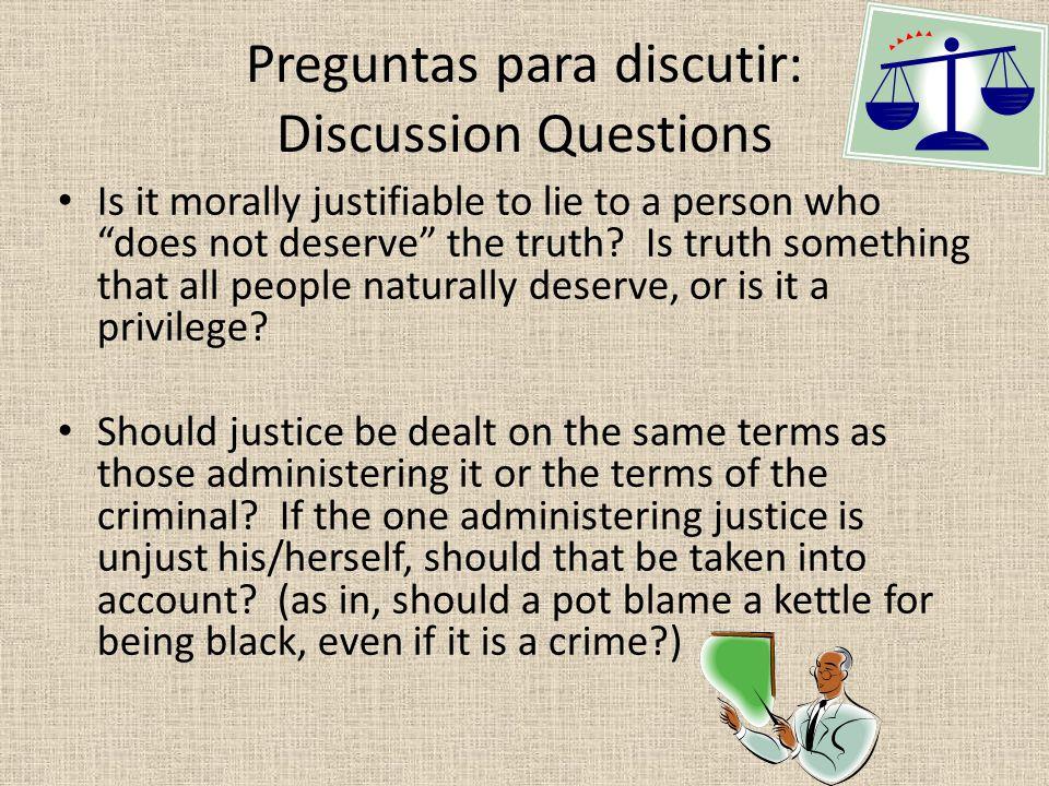 Preguntas para discutir: Discussion Questions