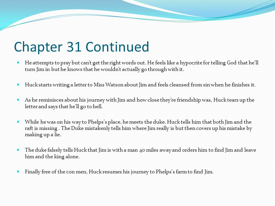 Chapter 31 Continued