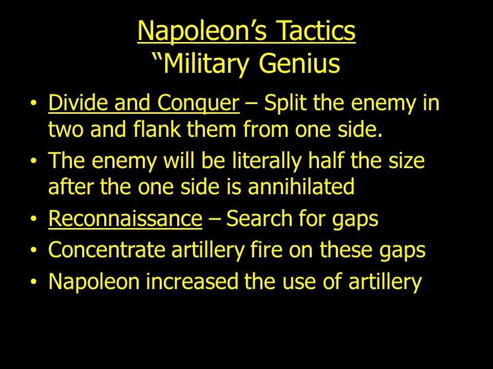 Napoleon's Tactics Military Genius