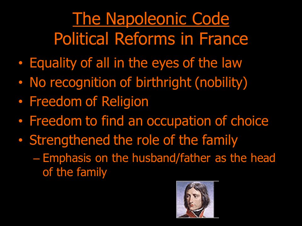 The Napoleonic Code Political Reforms in France