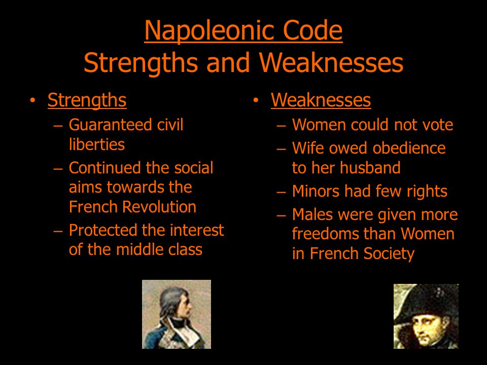 Napoleonic Code Strengths and Weaknesses