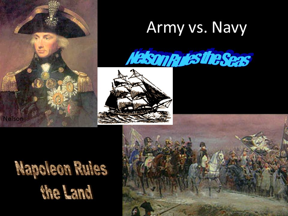 Army vs. Navy Nelson Rules the Seas Nelson Napoleon Rules the Land