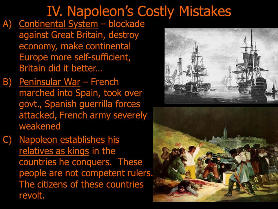IV. Napoleon's Costly Mistakes