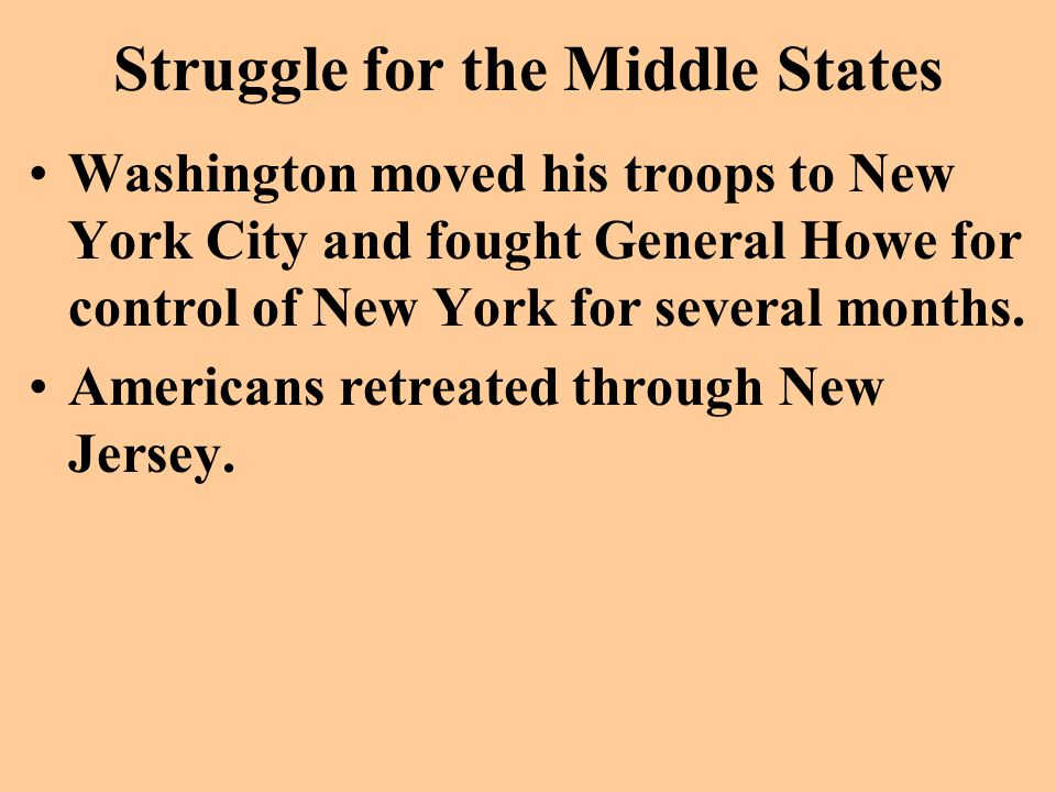 Struggle for the Middle States
