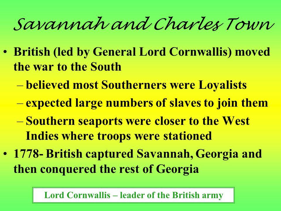Savannah and Charles Town