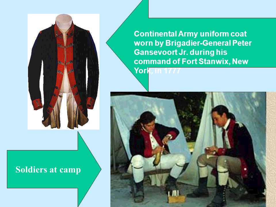 Continental Army uniform coat worn by Brigadier-General Peter Gansevoort Jr. during his command of Fort Stanwix, New York, in 1777