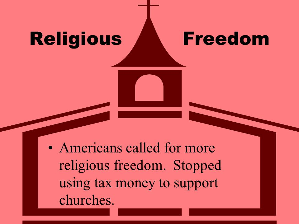 Religious Freedom Americans called for more religious freedom.