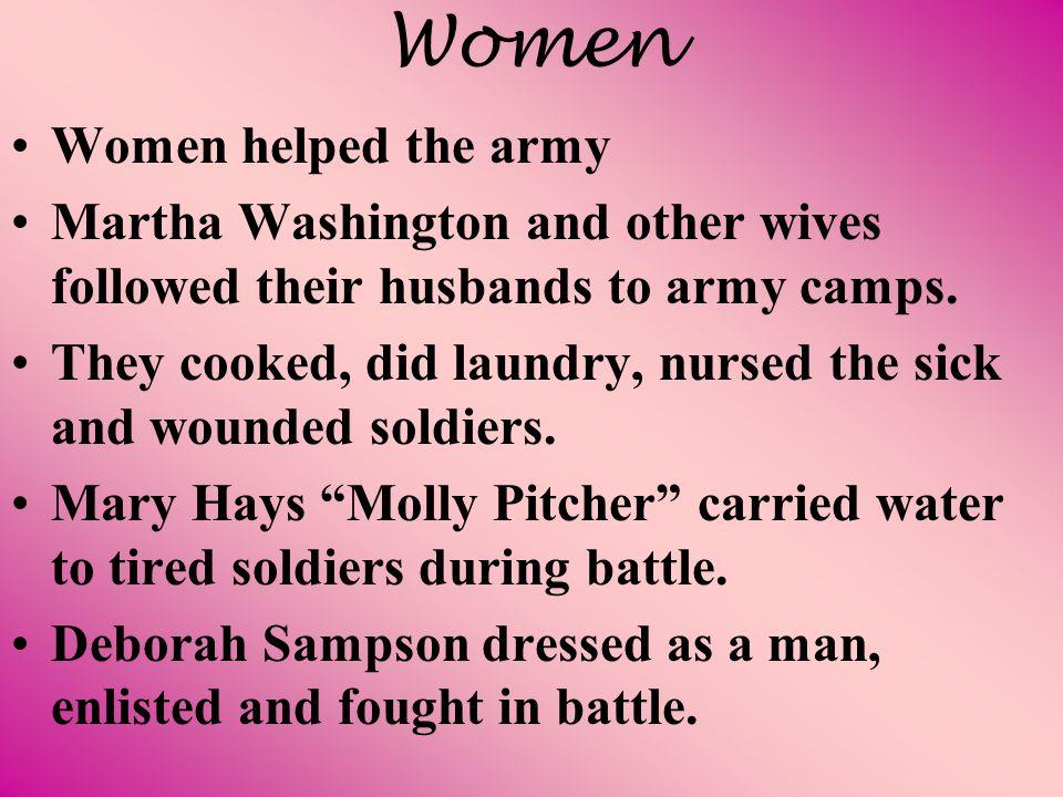 Women Women helped the army