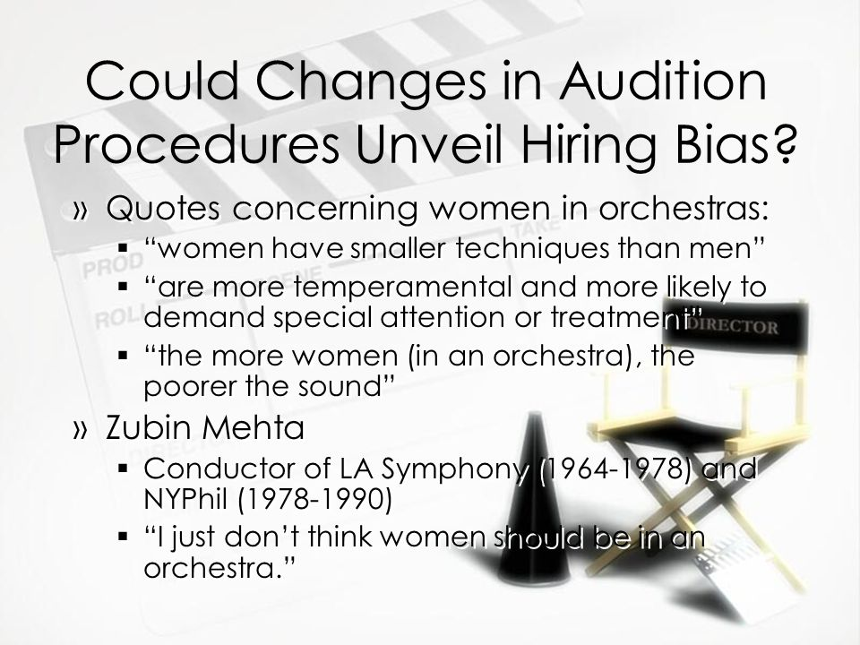 Could Changes in Audition Procedures Unveil Hiring Bias