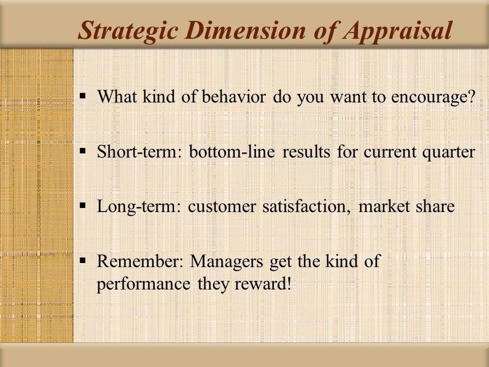 Strategic Dimension of Appraisal
