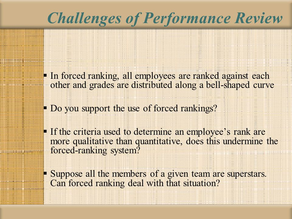 Challenges of Performance Review