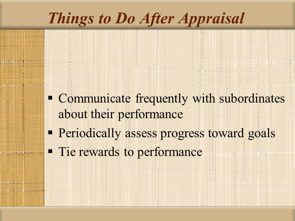 Things to Do After Appraisal