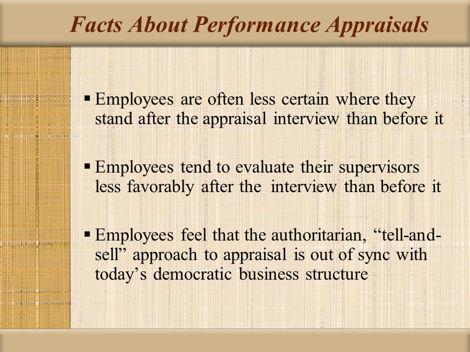 Facts About Performance Appraisals