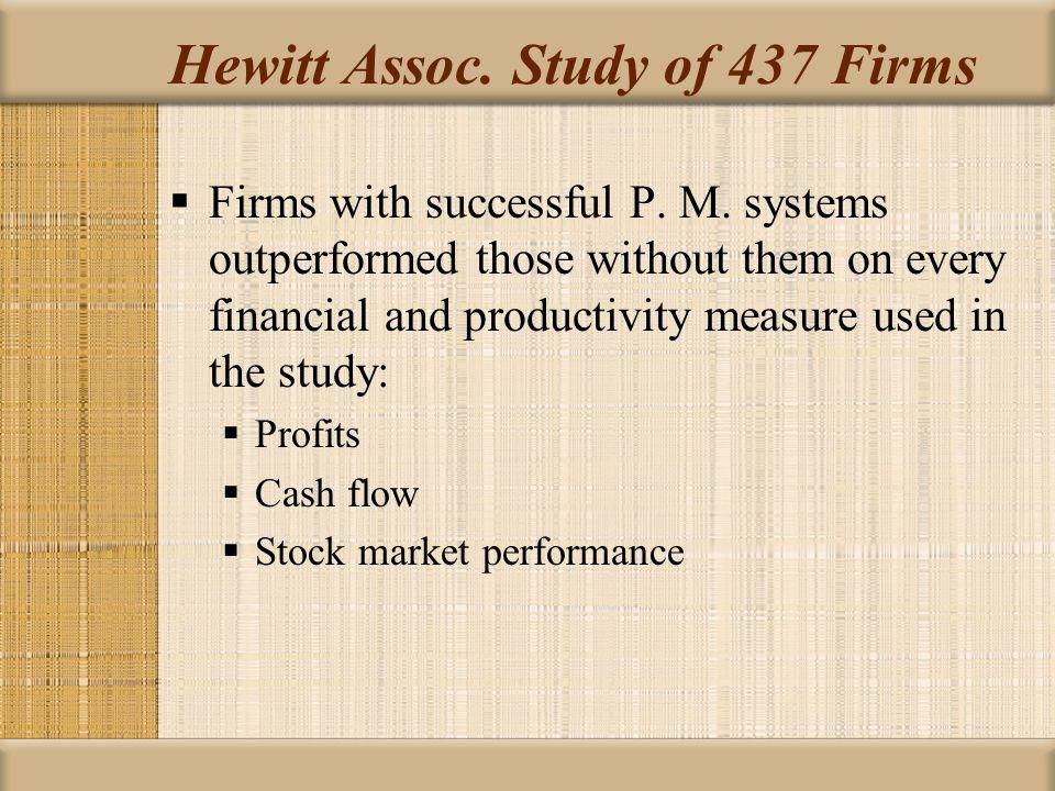 Hewitt Assoc. Study of 437 Firms