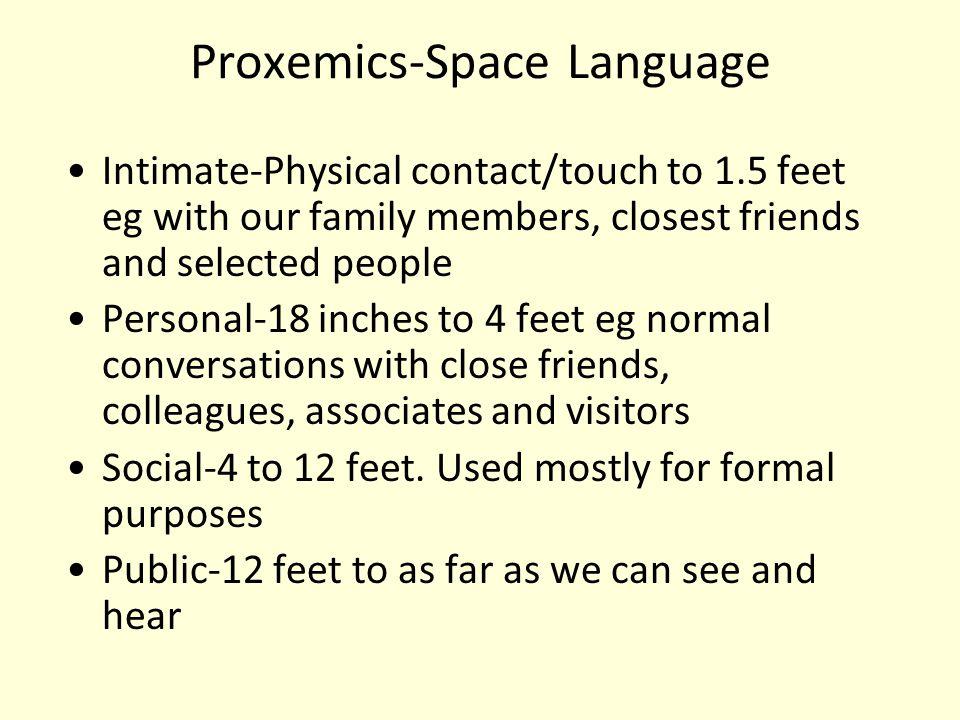 Proxemics-Space Language