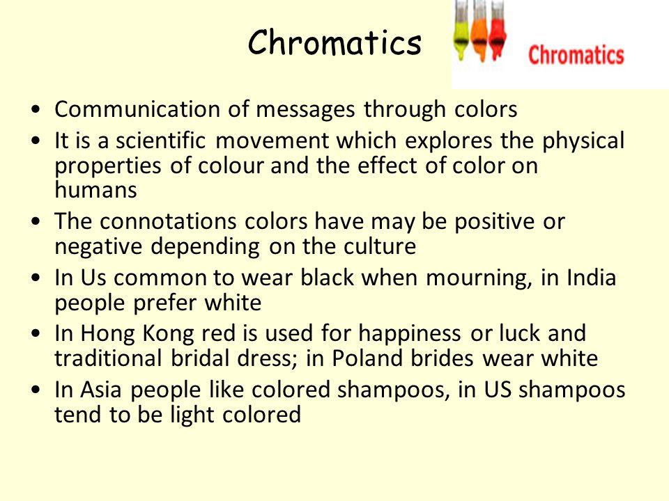Chromatics Communication of messages through colors