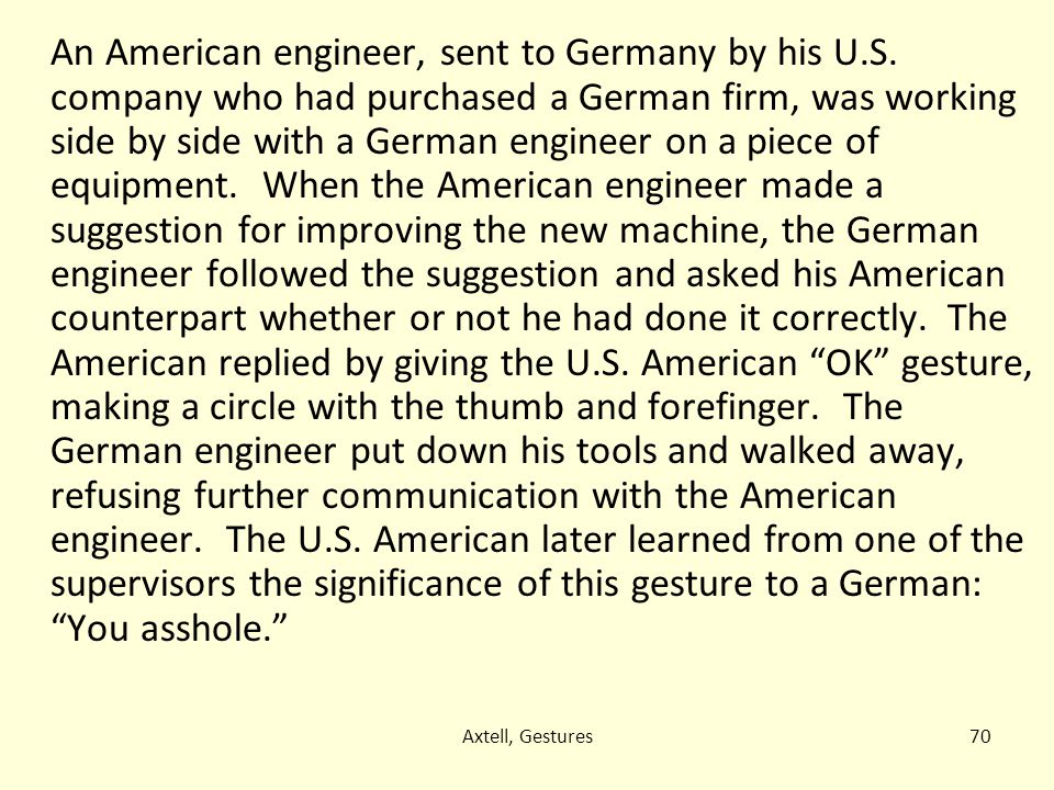 An American engineer, sent to Germany by his U. S