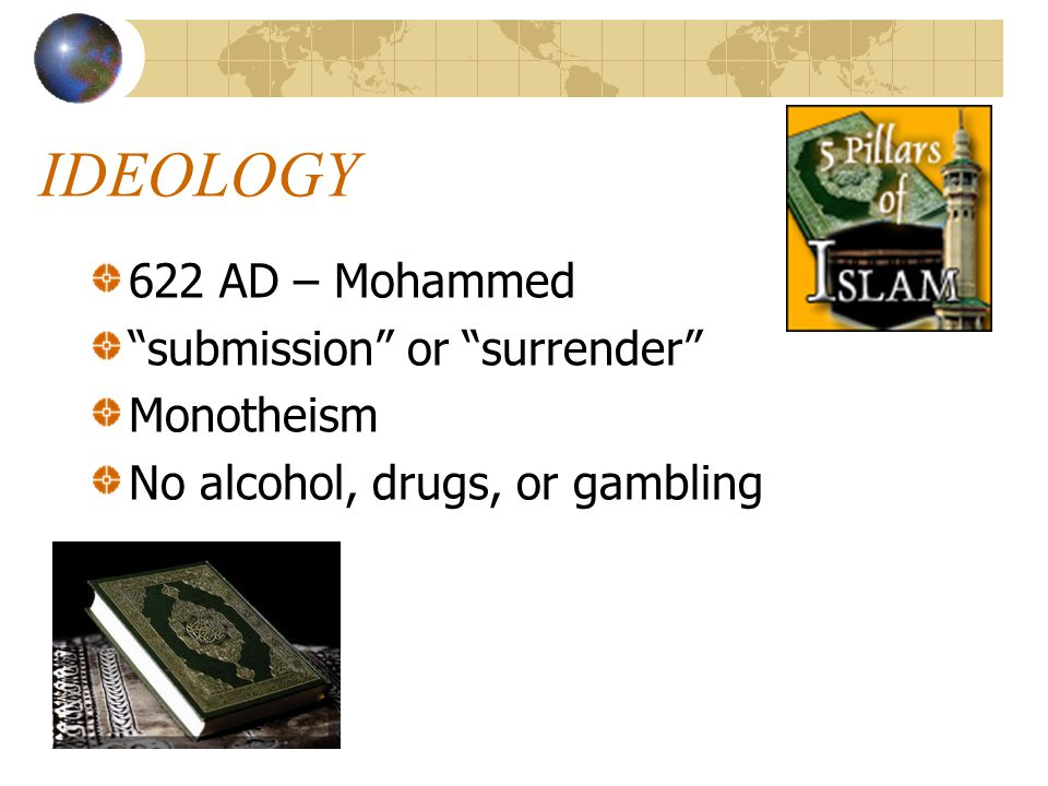 IDEOLOGY 622 AD – Mohammed submission or surrender Monotheism