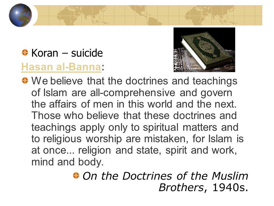 Koran – suicide Hasan al-Banna: